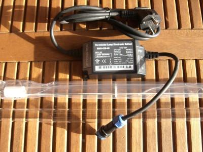 40 Watt Rota Montageset UVC Tauch Strahler incl. Vorschaltgerät Lampe Quarz
