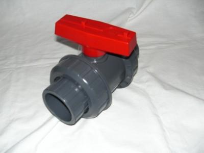 PVC Kugelhahn 50 mm Absperrhahn mit Klebemuffe Koiteich