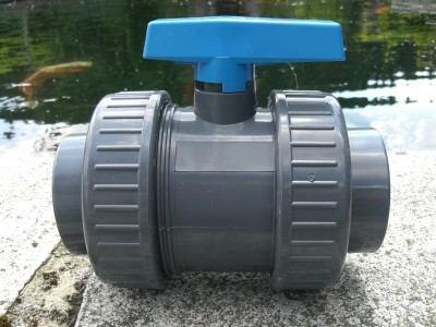 PVC Kugelhahn 75mm Absperrhahn mit Klebemuffen