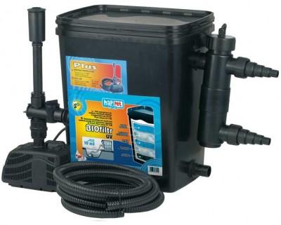 Gartenteichfilter Teichfilter für Teiche bis 5000 Liter m. Pumpe + 11 Watt UVC