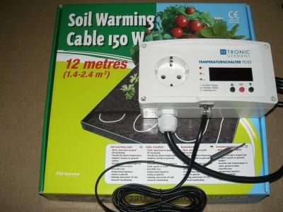 Teichheizkabel 150 Watt incl. Thermostat