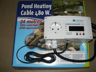Teichheizkabel 480 Watt incl. Thermostat